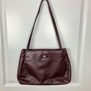 Vintage Aigner   Burgundy Leather Shoulder Bag G20